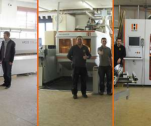 Une production alliant plaquage de chants, technologie CNC et usinage complet