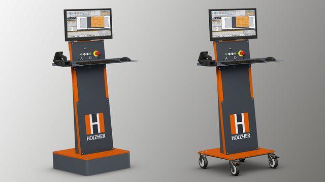 HOLZ-HER propose un pupitre de commande développé en exclusivité pour la série DYNESTIC, équipé d'un écran 21,5pouces 16/9 et vous offrant une ergonomie opérateur parfaite.