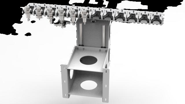Le changeur d'outil est extensible jusqu'à 12emplacements.