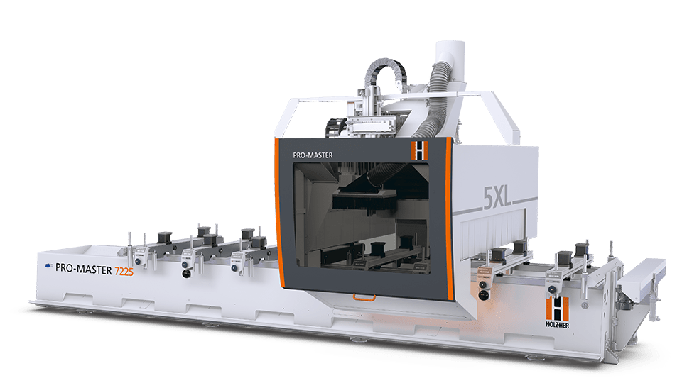 wood cnc machines: 5 axis cnc for wood and panels from Holzher